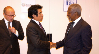 から) Supporting the Kofi Annan Foundation and IDEA(Institute for Democracy Electoral  Assistance) program(since  2010)