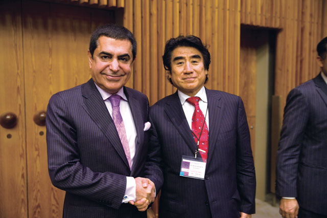 UN High Representative for the Alliance of Civilizations, Ambassador Nassir Abdulaziz Al-Nasser (left) and WSD Chairman Dr. Handa (right)